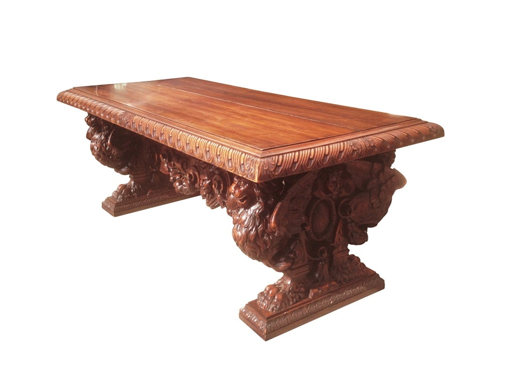 hand carved table by master sculptor valentino panciera besarel image