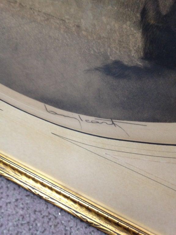 French Estate Original Louis Icart Titled Cendrillon Hand Signed Etching Estate Find For Sale
