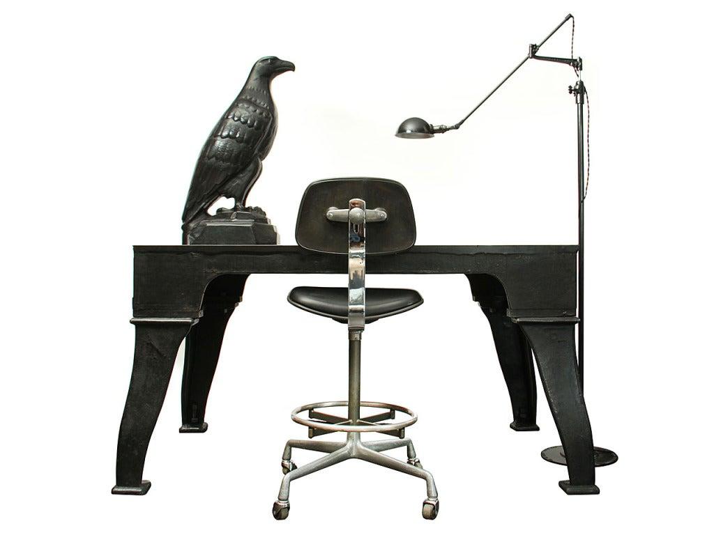 American Cast Iron Eagle Sculpture For Sale