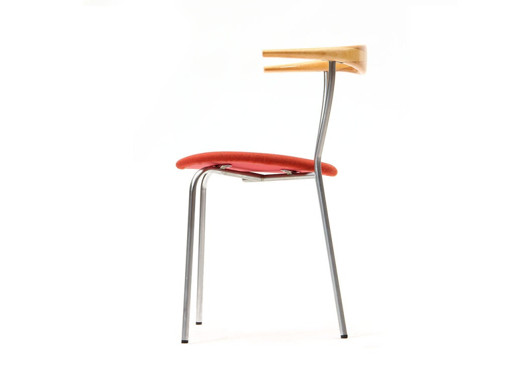 Scandinavian Modern Minimal Chair by Hans J. Wegner For Sale