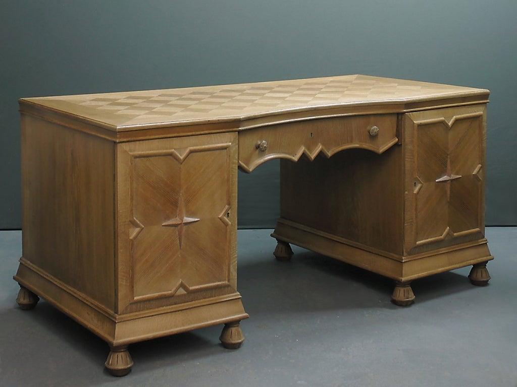 A Berlin Deko Expressionist Oak Desk At 1stdibs