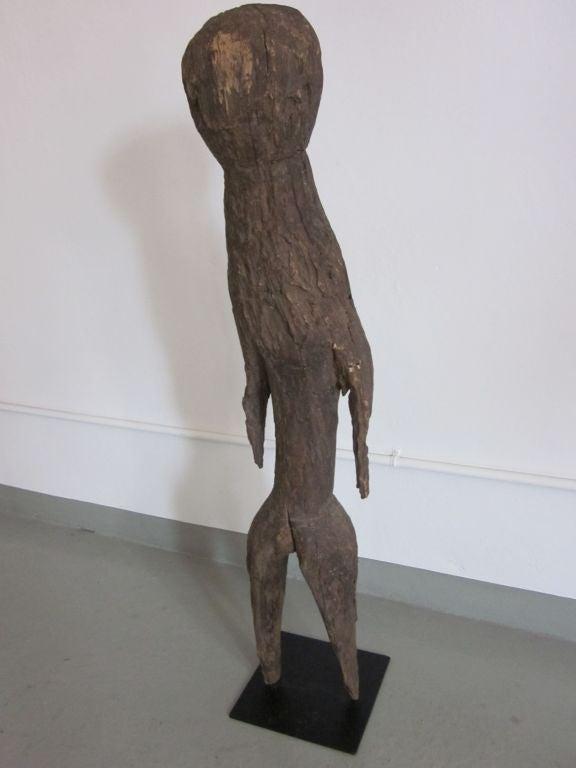Brutalist Carved Aftican Wood Sculpture from Togo For Sale