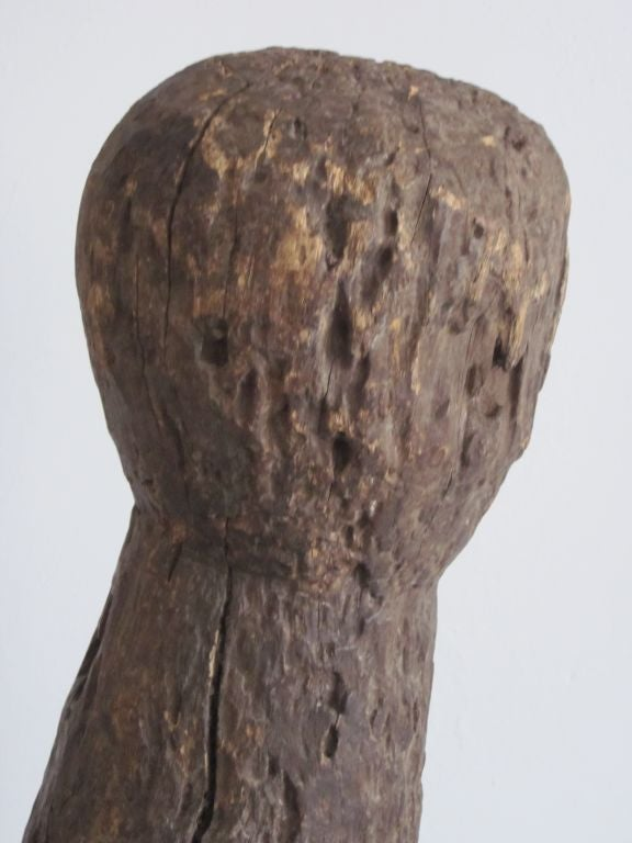 Carved Aftican Wood Sculpture from Togo For Sale 1