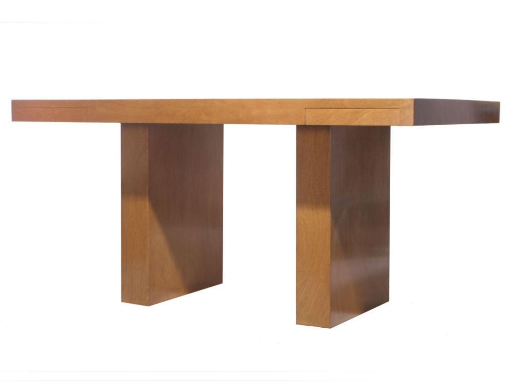 Double Drawer Slab Desk by Edward Wormley 2