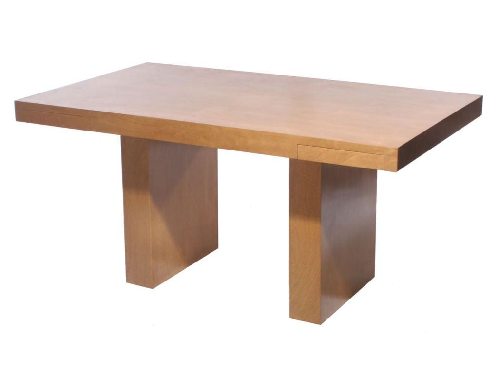 Double Drawer Slab Desk by Edward Wormley 3