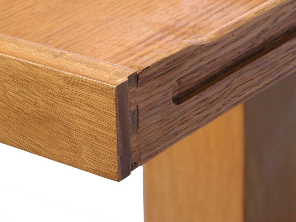 Double Drawer Slab Desk by Edward Wormley 4