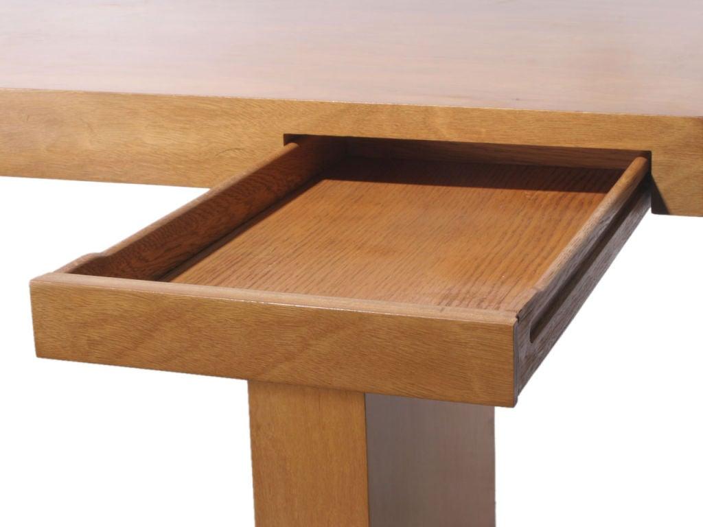Double Drawer Slab Desk by Edward Wormley 6