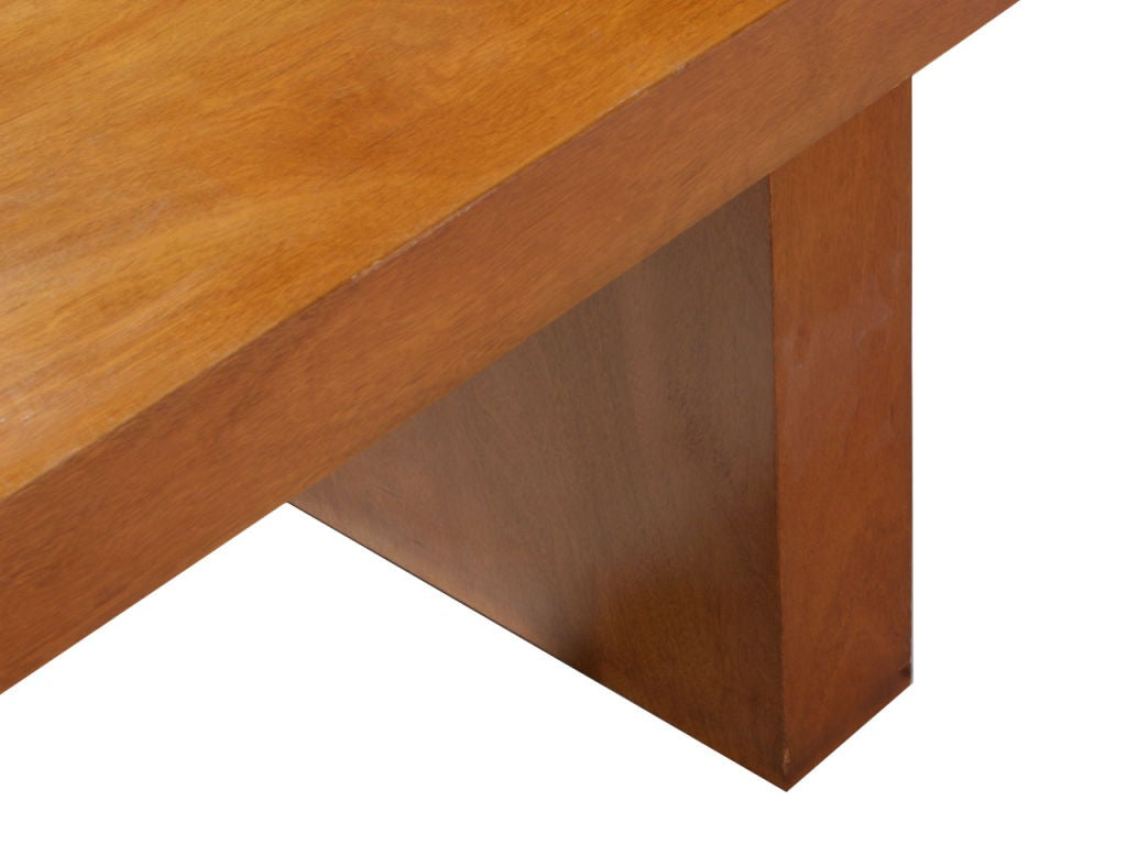 Double Drawer Slab Desk by Edward Wormley For Sale 1