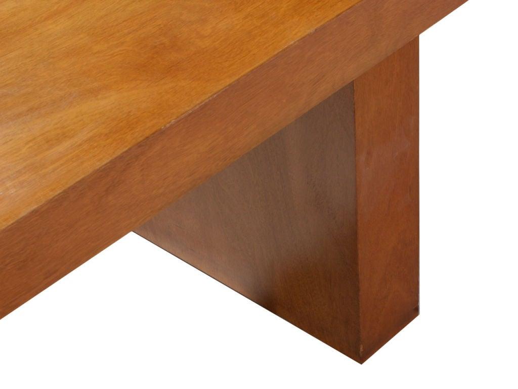 Double Drawer Slab Desk by Edward Wormley 7