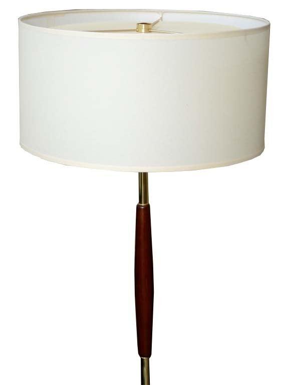 Gerald Thurston For Lightolier Single Stem Floor Lamp At