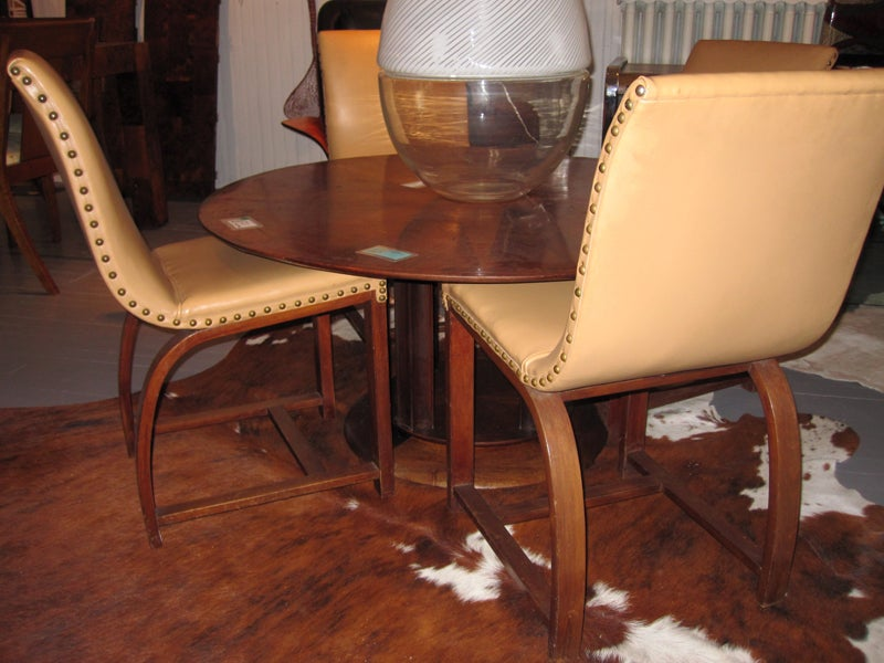 Set of Four Art Deco chairs Gilbert Rohde Heywood Wakefield For Sale 2