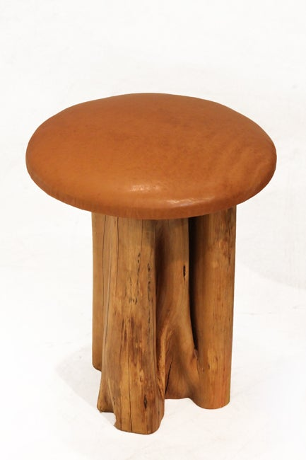 Set of 8 Aquari-Quari leather seat stools by Zanini de Zanine 2
