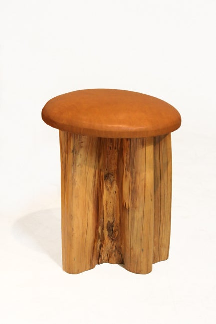 Set of 8 Aquari-Quari leather seat stools by Zanini de Zanine 5