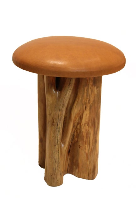 Set of 8 Aquari-Quari leather seat stools by Zanini de Zanine 6