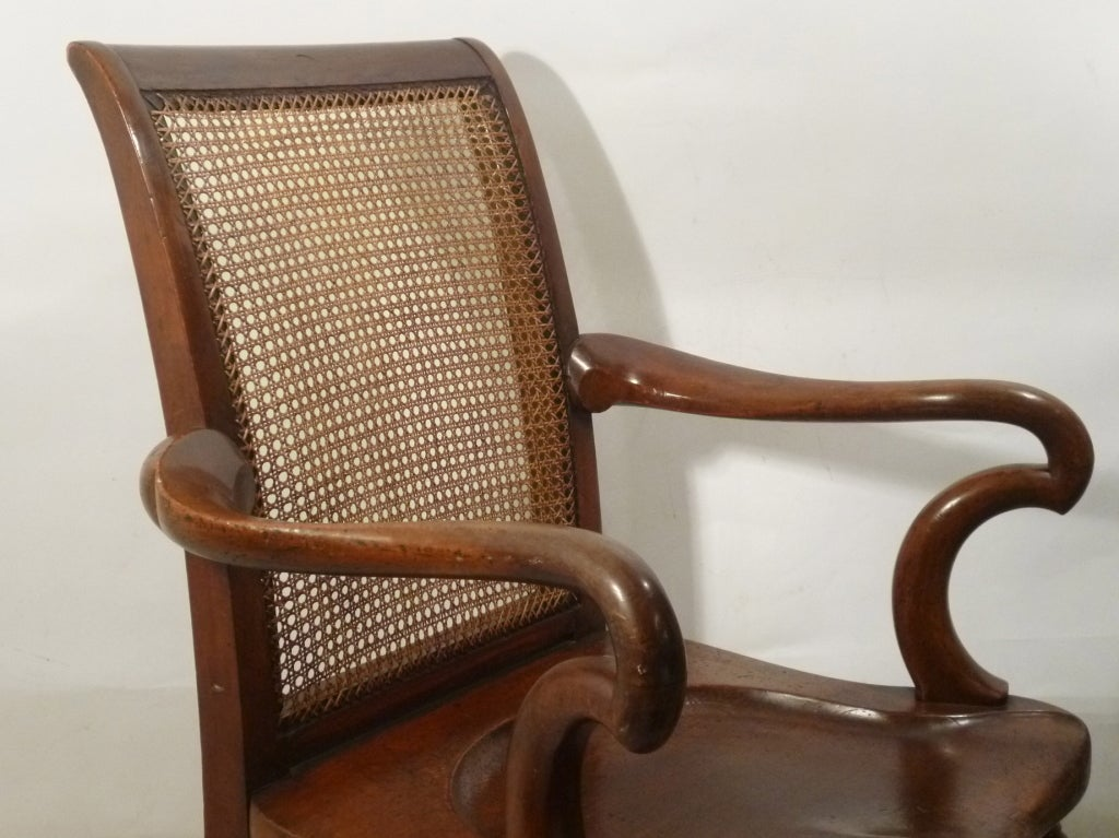 Oversize victorian mahogany 39 saddle seat 39 armchair at 1stdibs for Oversized armchair