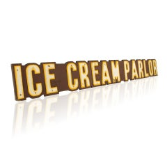 Large Ice Cream Parlor Sign, Over 8' Long image 3