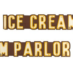 Large Ice Cream Parlor Sign, Over 8' Long image 4