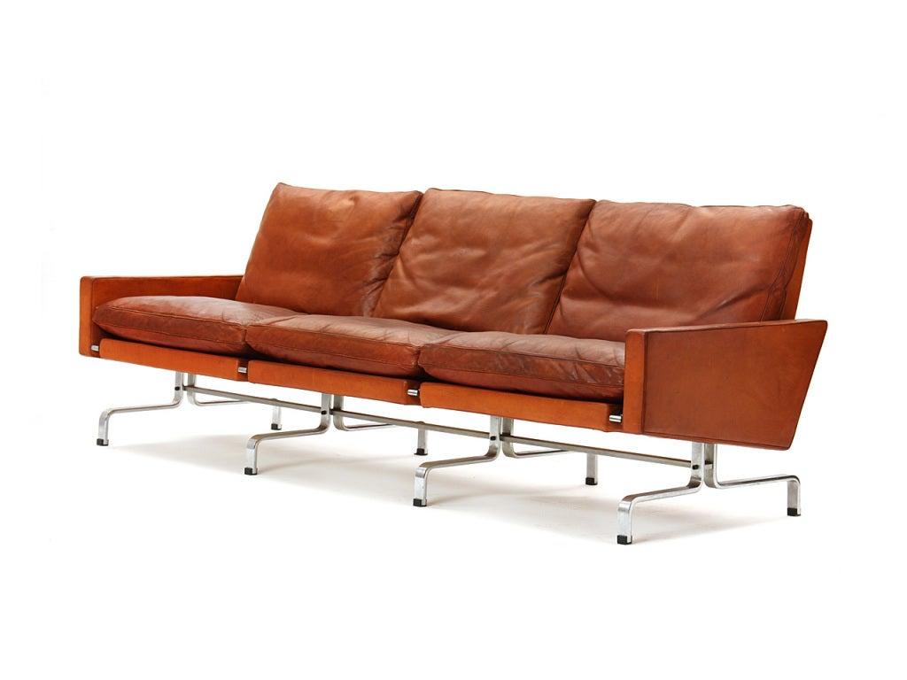 Pk31 3 Seat Sofa By Poul Kjaerholm At 1stdibs