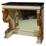 French Marble Top Pier Table Attributed M. Jansen