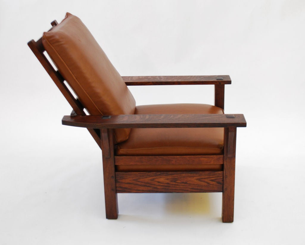 L And Jg Stickley Morris Chair C 1915 Arts And Crafts