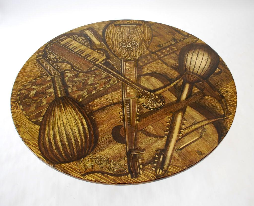 Piero Fornasetti STRUMENTI MUSICALI Coffee Table For Sale 1