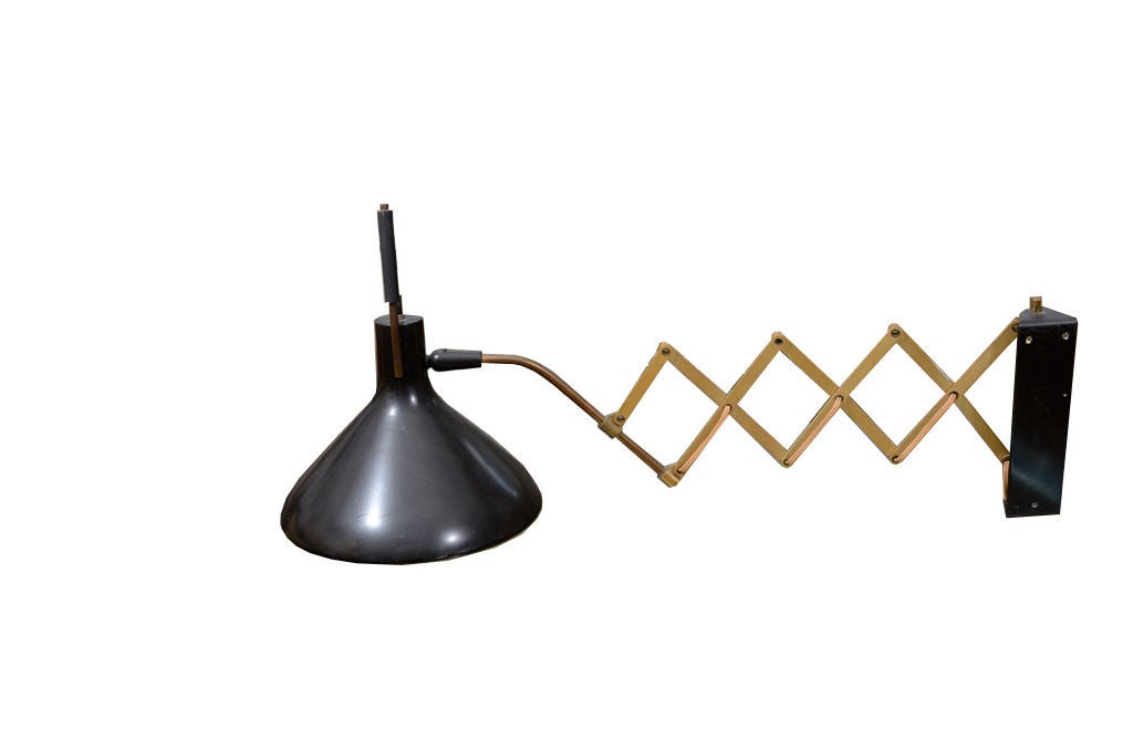1950 s Lightolier Wall Scissor Lamp at 1stdibs