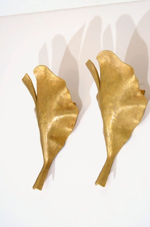 Contemporary Marc Bankowsky, New Leaf, Bronze Sconce, France, 2007 For Sale