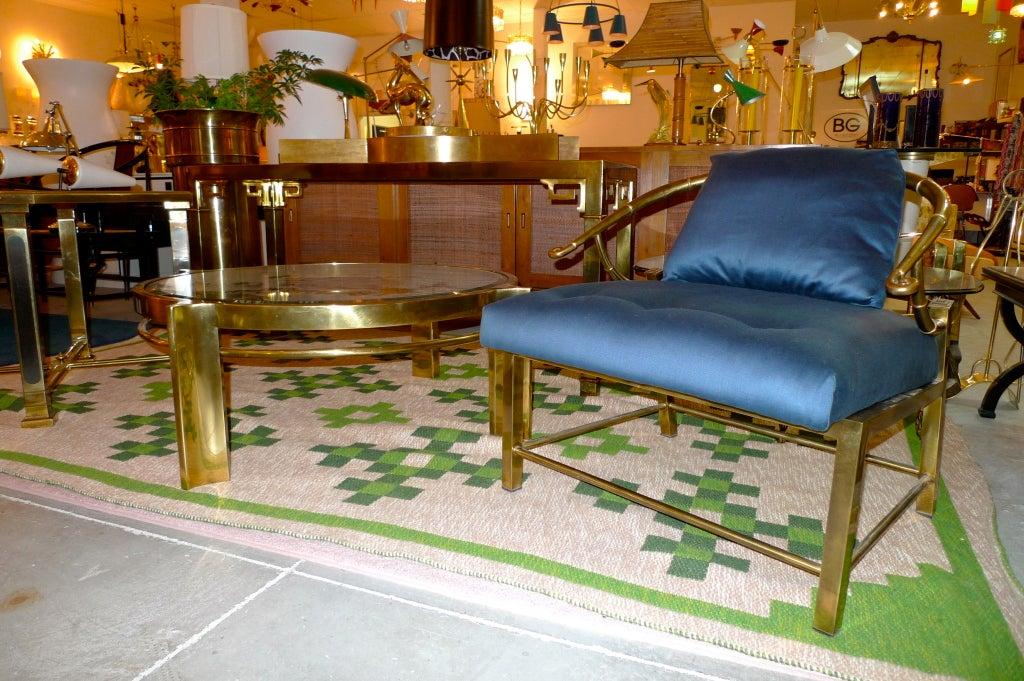 Mastercraft Brass Horseshoe Lounge Chair At 1stdibs