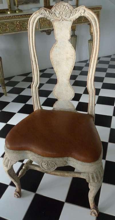 A Rare Set of 8 Swedish Rococo Chairs 2