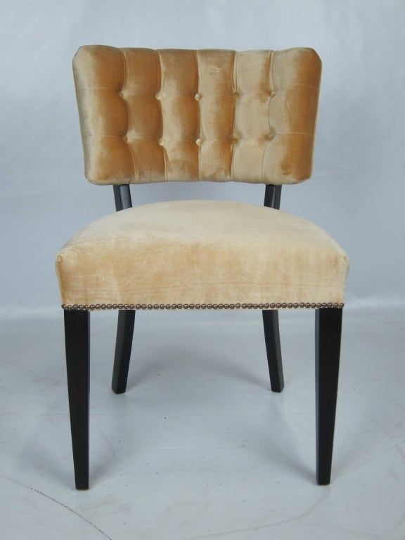 set of six tufted velvet dining chairs at 1stdibs