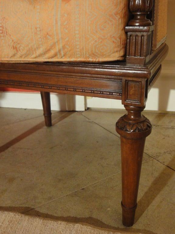 Louis XVI Style Mid-Century Caned Armchair 4