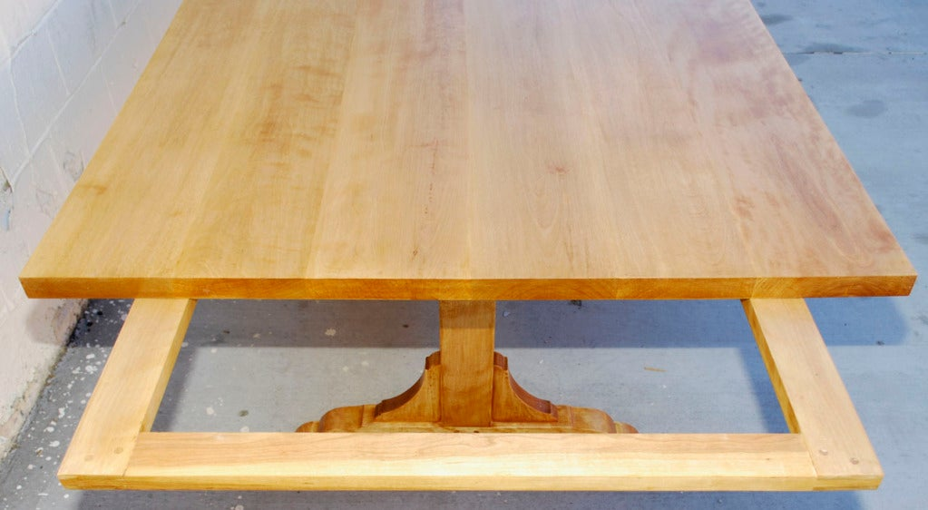 American Country Dining Table, Custom Made by Petersen Antiques  For Sale
