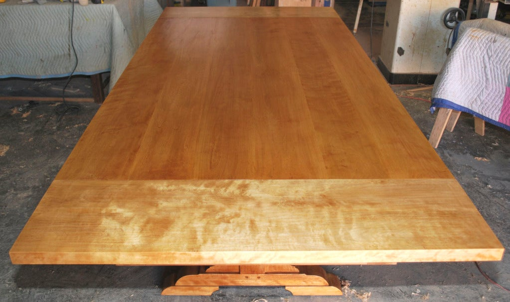 Country Dining Table, Custom Made by Petersen Antiques  In Excellent Condition For Sale In Los Angeles, CA