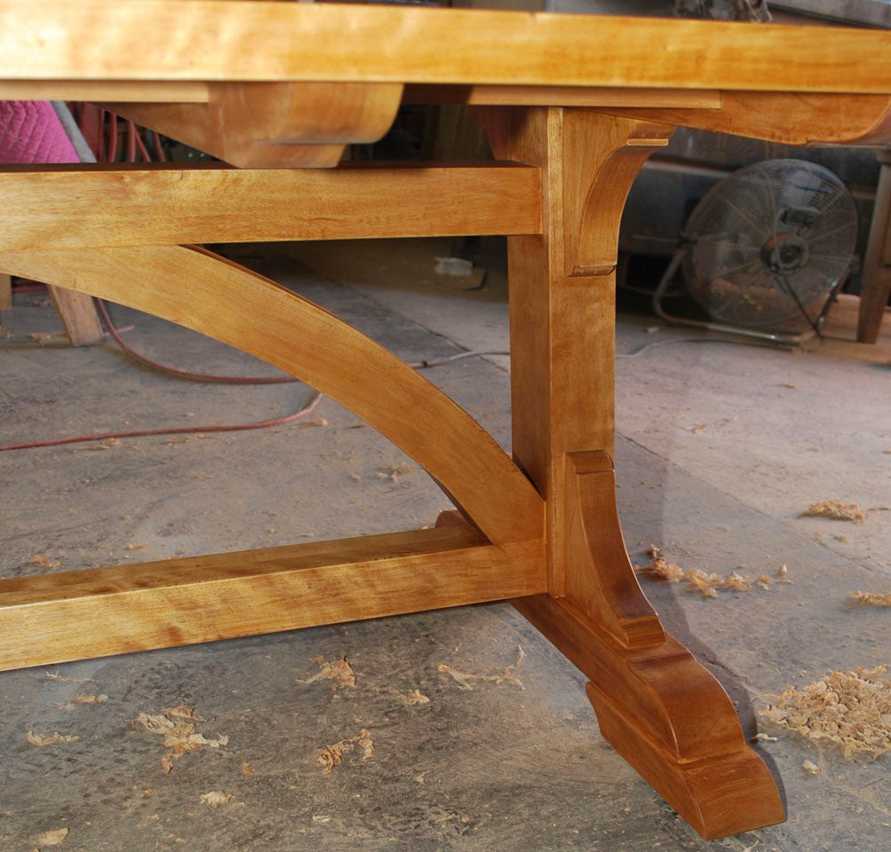 Birch Country Dining Table, Custom Made by Petersen Antiques  For Sale