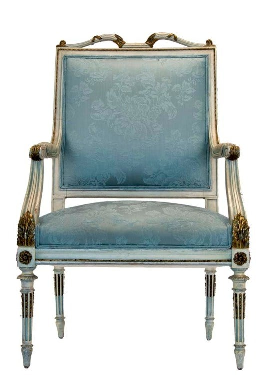 20th Century Georges Jacob French Louis Style Chair For Sale