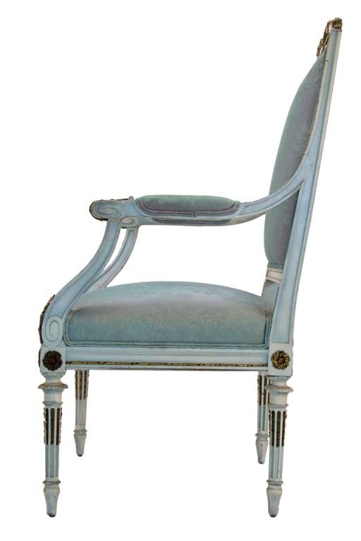 Wood Georges Jacob French Louis Style Chair For Sale