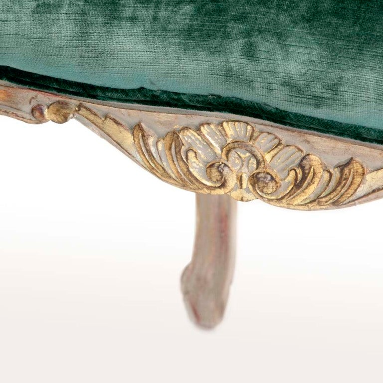 Louis XV Style Carved and Gilded Side Chairs (6) For Sale 1