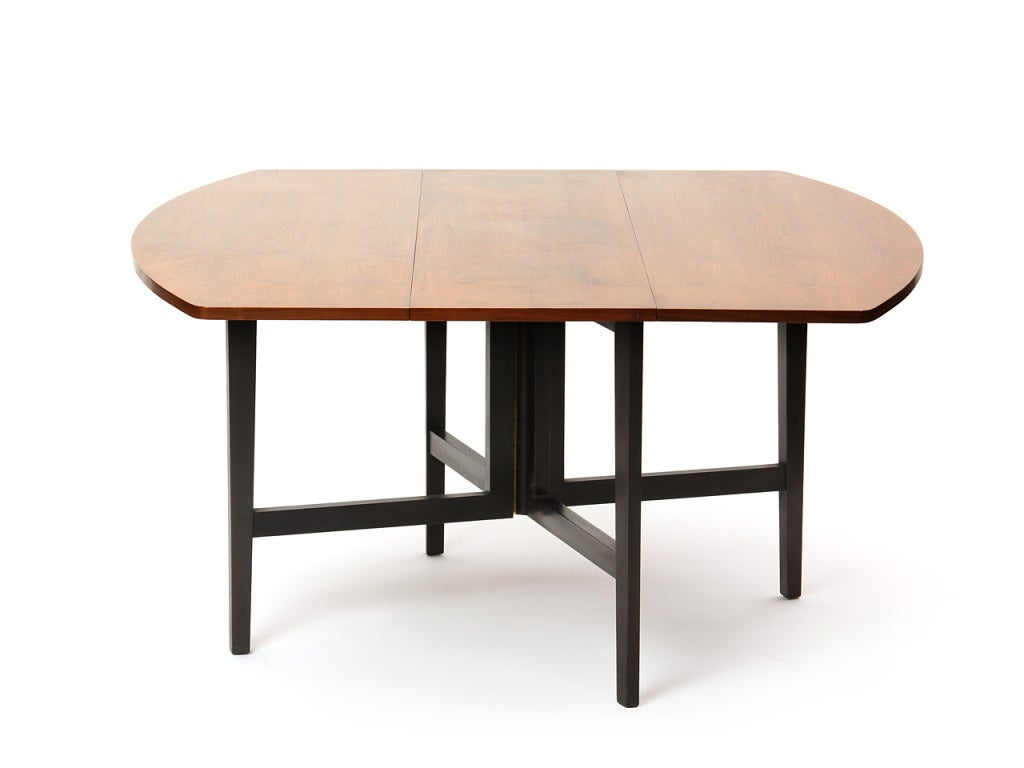Drop-Leaf Table by Edward Wormley In Excellent Condition For Sale In Sagaponack, NY