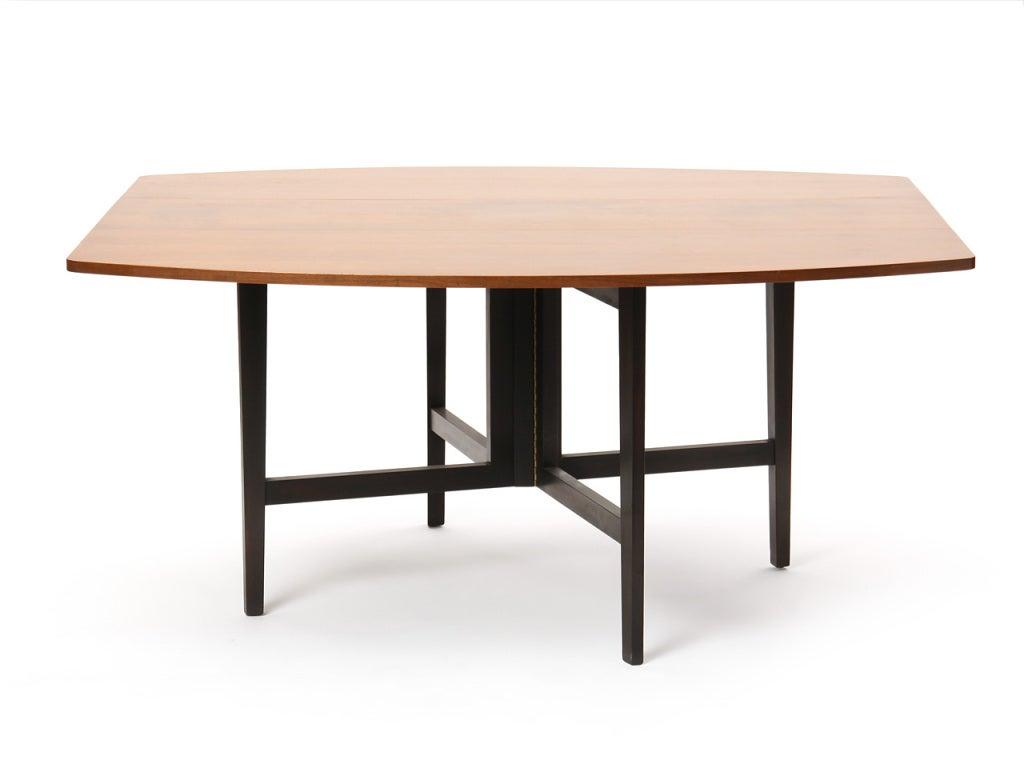 Mahogany Drop-Leaf Table by Edward Wormley For Sale