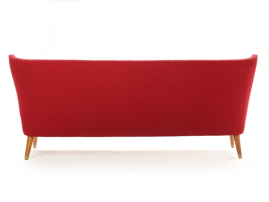 Danish Red Winged Sofa For Sale