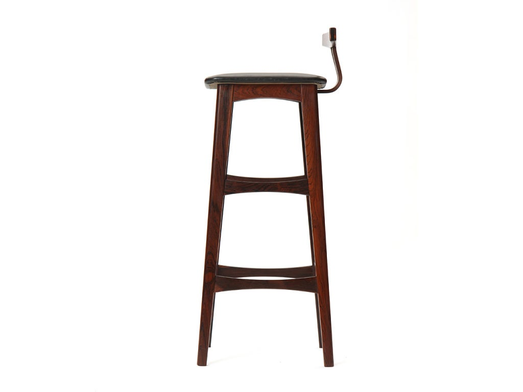 Set Of Four Rosewood Stools At 1stdibs