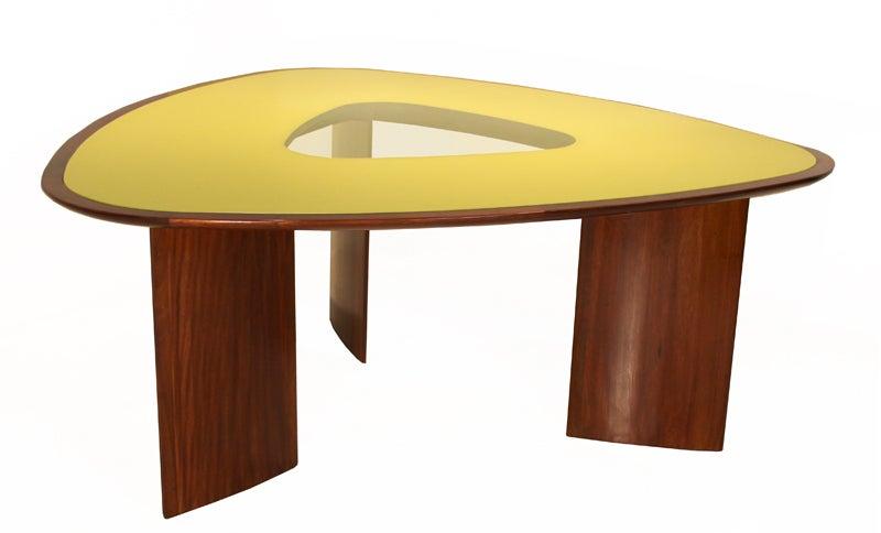Mesa triangular nine seat dining table by joaquim tenreiro at 1stdibs - Triangle dining table ...