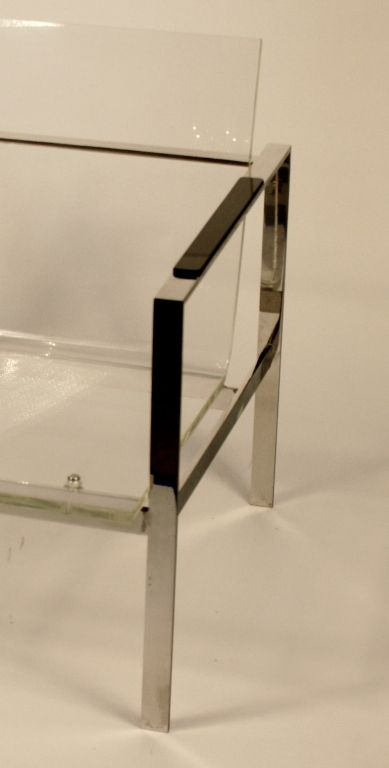 American Chrome and Lucite Club Chair