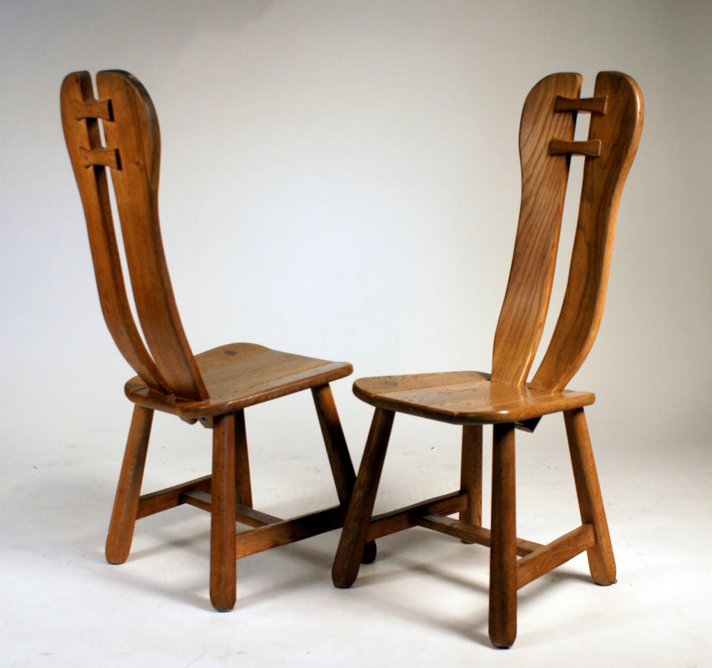 Set of 8 French Oak Dining Chairs at 1stdibs : 845412829383904 from www.1stdibs.com size 1024 x 961 jpeg 85kB