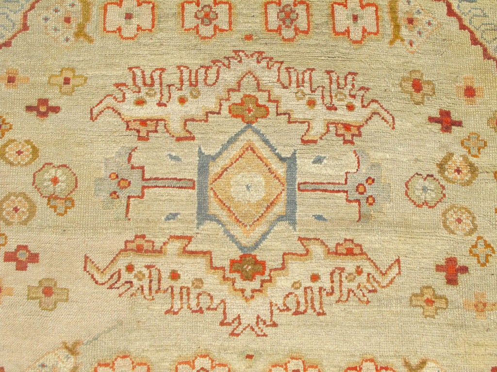 Gorgeous Antique Turkish Oushak Rug At 1stdibs
