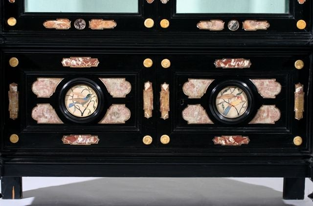 19th Century A Pietra Dura Cabinet For Sale