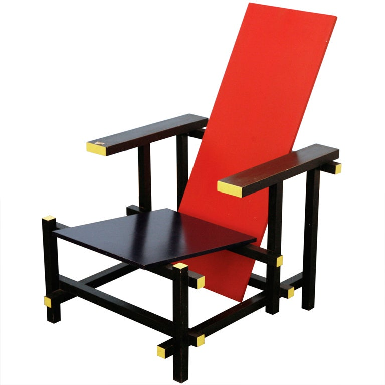 RedBlue Chair By Gerrit Thomas Rietveld At 1stdibs