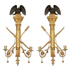 Pair of Classical Carved Sconces