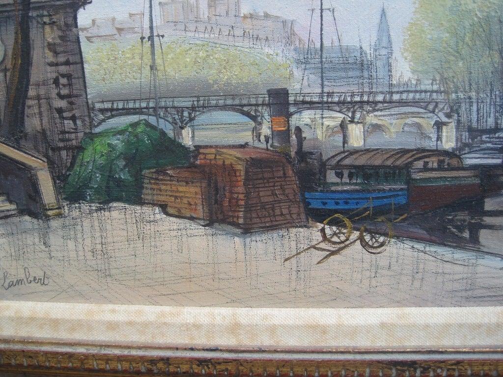 Art Deco Parisian Scene by A Lambert For Sale