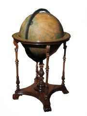 Grand Scale Terrestrial Library Globe by Kittinger, Circa 1930 image 2